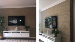 Seagrass Wallpaper Client Installation - Perth Premier Painting